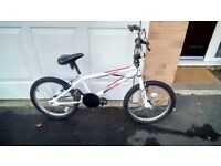 "Boys BMX Bike White Ace 360 20"" Wheels"