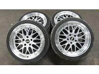 BMW BBS 18 inch alloy wheels and tyres E36 E46 E90 E91 E92 E85 E87 E89