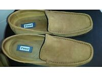 Austin Reed Men's Tan Suede Loafers Size 43 / 9