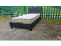 Nice leather single Bed (delivery available)
