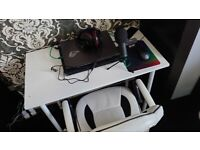 Gaming Chair and White Table for free