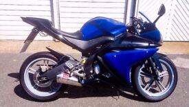 Yamaha R125 2009 with lots of EXTRAS