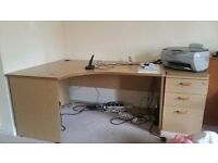 Large Computer Desk + Matching Draws