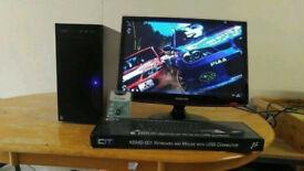 New Business PC Desktop Tower & 22 Samsung HD LCD Custom Quad