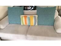 Grey Sofa,Chair, Puffett
