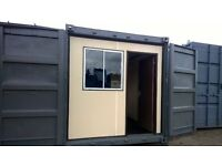 PORTABLE CABIN-50/50-HALF OFFICE/HALF CONTAINER-SHIPPING CONTAINER- CAR WASH UNIT