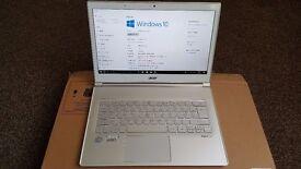"Acer Aspire S7-391-73534,13"" Intel i7-3537U 2.0 Ghz, 4gb Ram 256GB SSD Ultrabook TouchScreen"