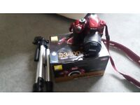 NIKON D3400 IN RED WITH WIFI