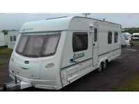 Twin Axle With Island Bed Lunar Lexon 2005 4 berth VGC. Separate Shower Cubicle. Shut off Bedroom.