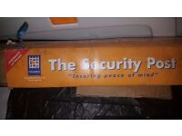 Brand New Security Post for use with securing Cars, Motorbikes, Caravans, Motorhomes and Trailers