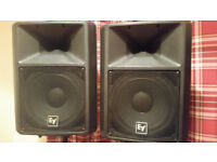 Electro voice ev sx 200 speakers (pair) with stands