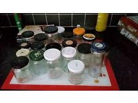 Unwanted jam jars For sale