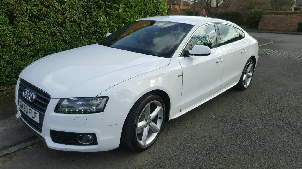 2011 audi a5 sportback s line 2 0 white tdi multitronic 5dr in st ives cambridgeshire gumtree. Black Bedroom Furniture Sets. Home Design Ideas