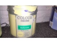 Home Bathroom Soft Sheen Emulsion Paint - Summertime 2.5L interior yellow wickes
