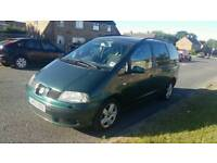 2003 SEAT ALHAMBRA 1.9 TDI DIESEL, 7 SEATER, CHEAP 7 SEATER, DRIVES GOOD, galaxy sharan