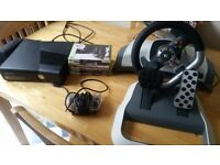 Excellent condition , X BOX 360 BLACK SLIM , WITH 6 GAMES