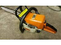 "STIHL MS 025 PETROL 18"" CHAINSAW WITH SPARE CHAIN"