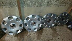 Vw hubcaps a set of 4
