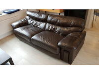 Leather 2-3 seater sofa - in good condition