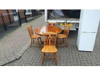 Solid pine table & 4 chairs,mint condition,not a mark on it £79 delivered