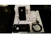 Apple iPhone 4S Smartphone (Black). 32GB. Factory unblocked. Front Back & Screen totally immaculate!
