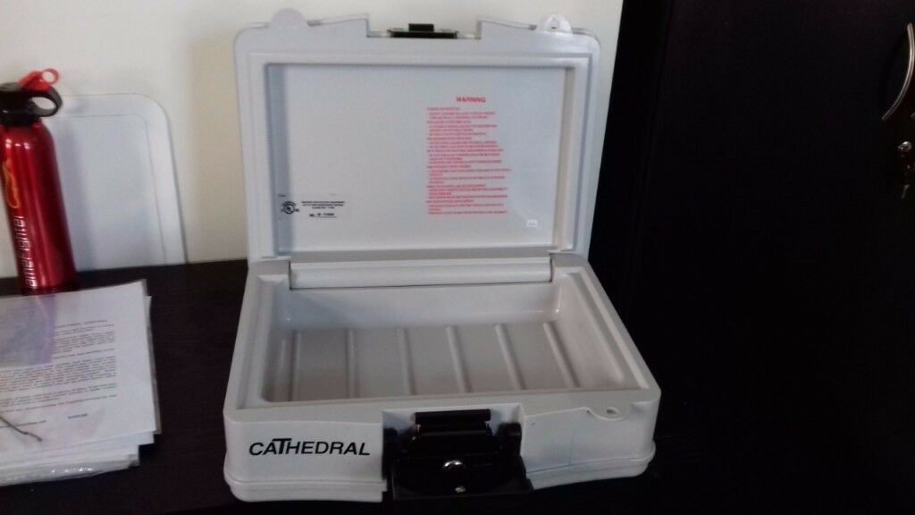 Cathedral Security Box/Safe with Carry Handle