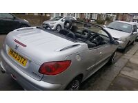 STYLISH 2003 AUTOMATIC 206 CONVERTIBLE 1.6 LEATHRR INTERIOR GREAT ENGINE &GEARBOX DRIVES BEAUTIFULLY