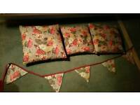 Cath Kidston cushions and bunting