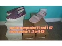 New girls shoes and sandles. Mixed sizes