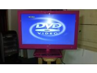 "LOGIK 22"" PINK LED TV/DVD COMBO EXCELLENT CONDITION"