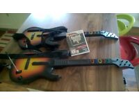 Guitar hero for Wii (disc and 2 guitars)