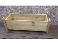 2 X handmade wooden planter