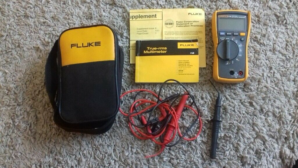 Fluke 116 multmeter with manual book and accessories | in Poole, Dorset |  Gumtree