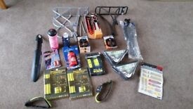 Cycling Job Lot. Racks,Pedals,Bottles Etc