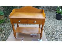 Antique Washstand with 2 drawers and shelf - £125