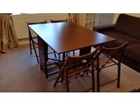Space Saver Dining Room Table and Chairs