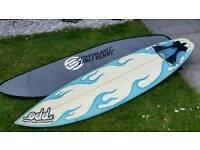6.4 Surfboard by Odd. With BAG LEASH & FINS