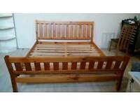 Solid Pine Super King Size Bed Frame