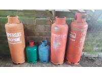 Empty gas cylinders