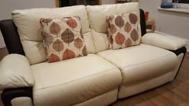 3 and 2 seater manual recliner leather sofas.