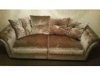 Velvet silver sofa