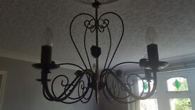 Bronze effect traditional light fitting.