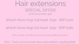 Insured and qualified hair extension technician and beautician, home based and mobile.