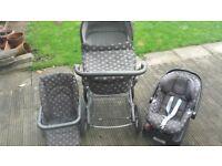 Mamas&papa 3in1 baby pushchair