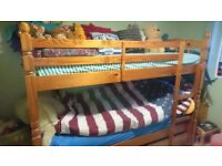 Solid sturdy pine bunk beds