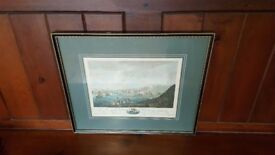 antique hand coloured etching Cliffords Fort North Shields