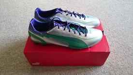 Puma evoSpeed 1 FG Football Boots Silver/Green/Purple UK Size 11 (New)