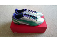 Puma evoSpeed 1 FG Football Boots Silver/Green/Purple UK Size 11 (New)