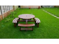 Garden bench table chairs