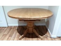 Oak Extendable Dining Table 6 Chairs